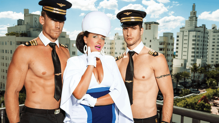 """The comedic air hostess, Pam Ann, takes the stage in Florida with her new show """"Pamdemic!"""""""